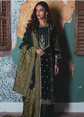 Qalamkar Embroidered Velvet Unstitched 3 Piece Suit QLM19V 07 - Winter Collection