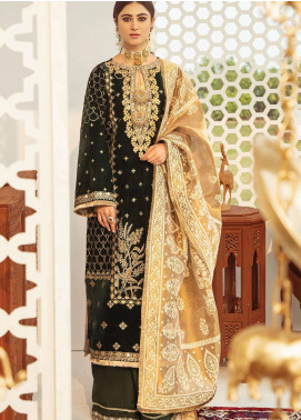 Qalamkar Embroidered Velvet Unstitched 3 Piece Suit QLM20V 06 - Luxury Collection