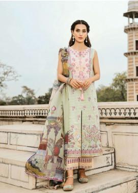 Qalamkar Embroidered Lawn Unstitched 3 Piece Suit QLM19F 02 DURRA - Festive Collection