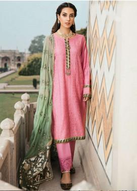 Qalamkar Embroidered Chikankari Unstitched 3 Piece Suit QLM19F 10 ANAYA - Festive Collection