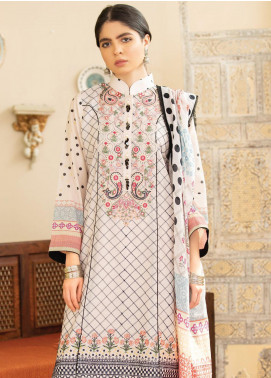 Qalamkar Embroidered Lawn Unstitched 3 Piece Suit QLM20Q 11 - Spring / Summer Collection