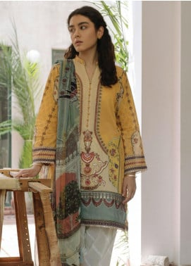 Qalamkar Embroidered Lawn Unstitched 3 Piece Suit QLM20Q 4 - Spring / Summer Collection