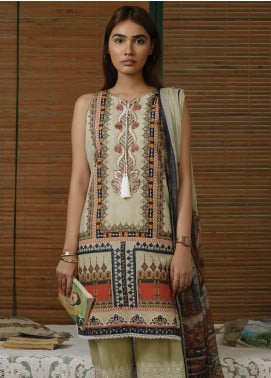 Qalamkar Embroidered Lawn Unstitched 3 Piece Suit QLM20Q 7 - Spring / Summer Collection