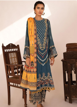 Qline by Qalamkar Embroidered Linen Unstitched 3 Piece Suit QLM20LN 01 - Winter Collection