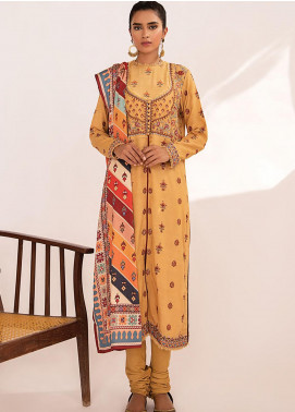 Qline by Qalamkar Embroidered Linen Unstitched 3 Piece Suit QLM20LN 02 - Winter Collection