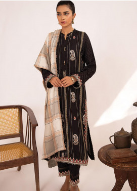 Qline by Qalamkar Embroidered Linen Unstitched 3 Piece Suit QLM20LN 08 - Winter Collection
