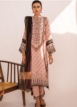 Qline by Qalamkar Embroidered Linen Unstitched 3 Piece Suit QLM20LN 09 - Winter Collection