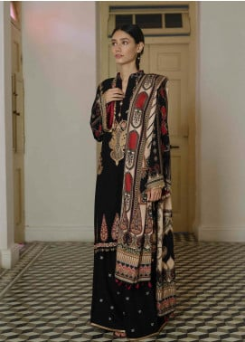 Qalamkar Embroidered Linen Unstitched 3 Piece Suit QLM19Q 01 - Winter Collection