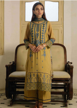 Qalamkar Embroidered Linen Unstitched 3 Piece Suit QLM19Q 07 - Winter Collection
