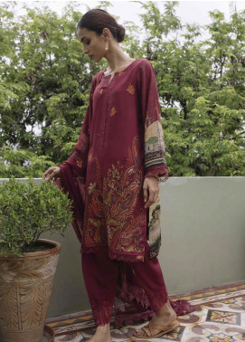Qalamkar Embroidered Linen Unstitched 3 Piece Suit QLM19Q 09 - Winter Collection