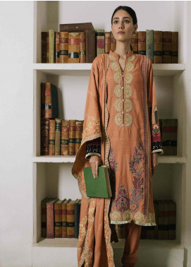 Qalamkar Embroidered Linen Unstitched 3 Piece Suit QLM19Q 11 - Winter Collection