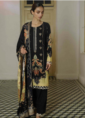 Qalamkar Embroidered Linen Unstitched 3 Piece Suit QLM19Q 12 - Winter Collection