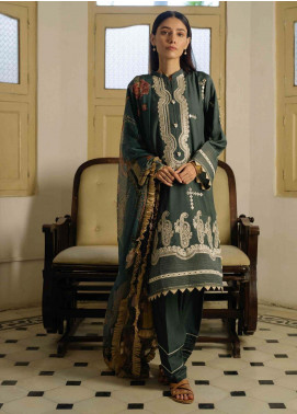 Qalamkar Embroidered Linen Unstitched 3 Piece Suit QLM19Q 13 - Winter Collection