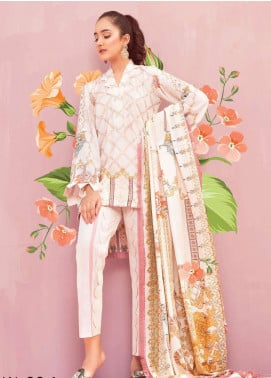 Senorina By Qalamkar Embroidered Linen Unstitched 3 Piece Suit QL18L 9A - Formal Winter Collection