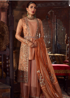 Qalamkar Embroidered Organza Unstitched 3 Piece Suit QLM19WD 01 Leena - Wedding Collection