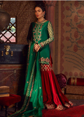 Qalamkar Embroidered Raw Silk Unstitched 3 Piece Suit QLM19WD 04 Samal - Wedding Collection