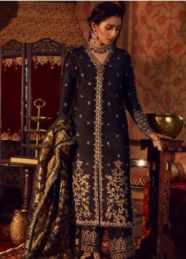 Qalamkar Embroidered Raw Silk Unstitched 3 Piece Suit QLM19WD 07 Ziya - Wedding Collection