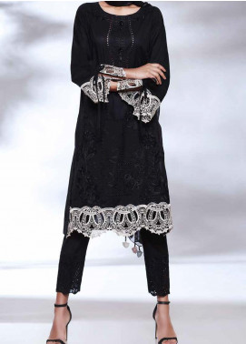 Qara by Charizma Embroidered Lawn Unstitched 3 Piece Suit CRZ20BW 02 - Black & White Collection
