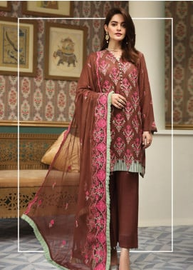 Raaya by Rang Rasiya Embroidered Karandi Unstitched 3 Piece Suit RY19K 701 B - Formal Collection
