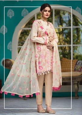 Raaya by Rang Rasiya Embroidered Karandi Unstitched 3 Piece Suit RY19K 702 B - Formal Collection
