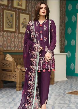 Raaya by Rang Rasiya Embroidered Karandi Unstitched 3 Piece Suit RY19K 703 B - Formal Collection