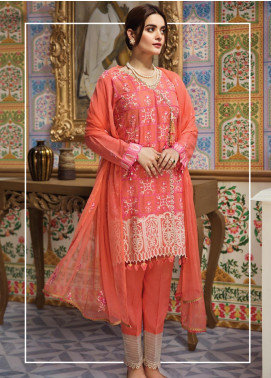 Raaya by Rang Rasiya Embroidered Karandi Unstitched 3 Piece Suit RY19K 704 A - Formal Collection