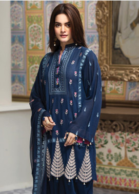 Raaya by Rang Rasiya Embroidered Karandi Unstitched 3 Piece Suit RY19K 705 A - Formal Collection