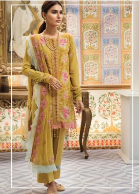 Raaya by Rang Rasiya Embroidered Karandi Unstitched 3 Piece Suit RY19K 708 A - Formal Collection