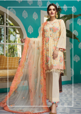 Raaya by Rang Rasiya Embroidered Karandi Unstitched 3 Piece Suit RY19K 708 B - Formal Collection