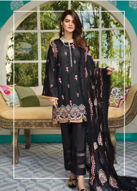 Raaya by Rang Rasiya Embroidered Karandi Unstitched 3 Piece Suit RY19K 709 A - Formal Collection