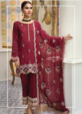 Raaya by Rang Rasiya Embroidered Karandi Unstitched 3 Piece Suit RY19K 709 B - Formal Collection