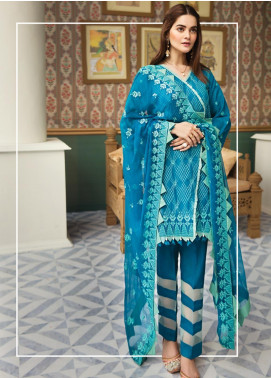 Raaya by Rang Rasiya Embroidered Karandi Unstitched 3 Piece Suit RY19K 710 A - Formal Collection