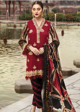 Raaya by Rang Rasiya Embroidered Cottel Linen Unstitched 3 Piece Suit RY19W 2 - Winter Collection