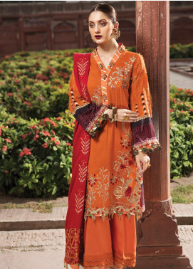 Raaya by Rang Rasiya Embroidered Linen Unstitched 3 Piece Suit RY19W 3 - Winter Collection