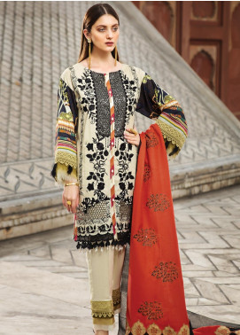 Raaya by Rang Rasiya Embroidered Cottel Linen Unstitched 3 Piece Suit RY19W 5 - Winter Collection