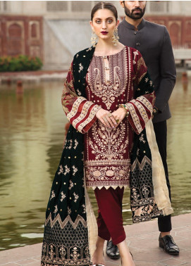Raaya by Rang Rasiya Embroidered Cottel Linen Unstitched 3 Piece Suit RY19W 8 - Winter Collection