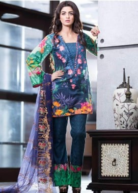 Rabea By Shariq Textiles Embroidered Lawn Unstitched 3 Piece Suit RBA19L 05 - Spring / Summer Collection