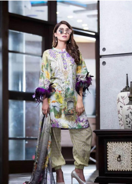 Rabea By Shariq Textiles Embroidered Lawn Unstitched 3 Piece Suit RBA19L 06 - Spring / Summer Collection