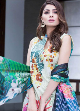 Rabea By Shariq Textiles Embroidered Lawn Unstitched 3 Piece Suit RBA19L 10 - Spring / Summer Collection