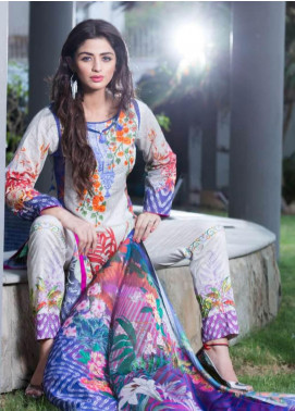 Rabea By Shariq Textiles Embroidered Lawn Unstitched 3 Piece Suit RBA19L 11 - Spring / Summer Collection