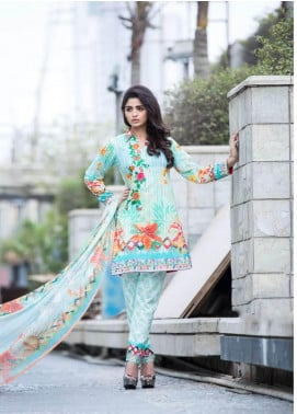 Rabea By Shariq Textiles Embroidered Lawn Unstitched 3 Piece Suit RBA19L 14 - Spring / Summer Collection