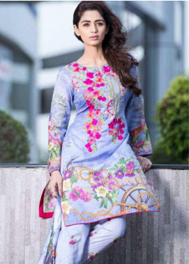 Rabea By Shariq Textiles Embroidered Lawn Unstitched 3 Piece Suit RBA19L 15 - Spring / Summer Collection