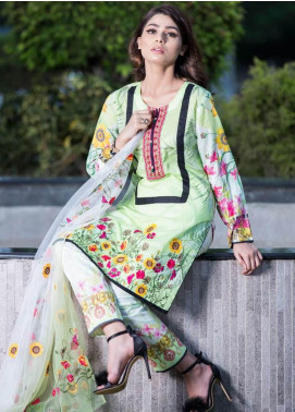 Rabea By Shariq Textiles Embroidered Lawn Unstitched 3 Piece Suit RBA19L 16 - Spring / Summer Collection