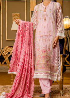 Rabia's Textiles Embroidered Organza Unstitched 3 Piece Suit RBA19F 06 ROSEA DIGNITY - Festive Collection