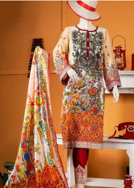 Rabia's Textiles Embroidered Lawn Unstitched 3 Piece Suit RBA19S 02 SECRET GARDEN - Spring / Summer Collection