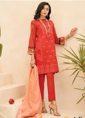 RajBari Embroidered Jacquard Unstitched 2 Piece Suit RB20EL 1B - Spring / Summer Collection