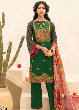 RajBari Embroidered Lawn Unstitched 2 Piece Suit RB20EL 3A - Spring / Summer Collection