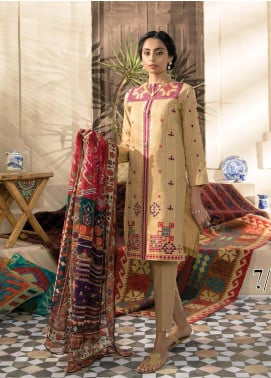 RajBari Embroidered Jacquard Unstitched 2 Piece Suit RB20EL 7B - Spring / Summer Collection