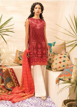 RajBari Embroidered Lawn Unstitched 2 Piece Suit RB20EL 8A - Spring / Summer Collection