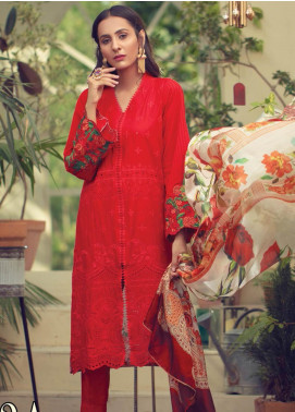 RajBari Embroidered Schiffli Unstitched 3 Piece Suit RB19F 2A - Festive Collection
